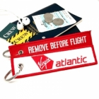 Virgin Atlantic REMOVE BEFORE FLIGHT attendant pilot luggage bag tag keychain