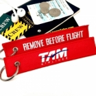 TAM Airlines LATAM Airlines Brasil REMOVE BEFORE FLIGHT attendant pilot luggage bag tag keychain