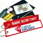 CSA Czech Airlines REMOVE BEFORE FLIGHT attendant pilot luggage bag tag keychain