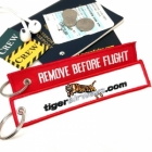 Tigerair Tiger Airways REMOVE BEFORE FLIGHT attendant pilot luggage bag tag keychain