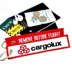 Cargolux REMOVE BEFORE FLIGHT attendant pilot luggage bag tag keychain