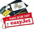 easyJet REMOVE BEFORE FLIGHT attendant pilot luggage bag tag keychain