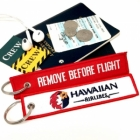Hawaiian Airlines Remove Before Flight Attendant luggage bag tag keychain
