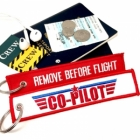 Co-PILOT crew Remove Before Flight Top Gun style luggage bag tag keychain