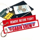 CABIN CREW flight attendant crew Remove Before Flight Top Gun style luggage bag tag keychain