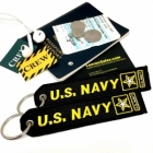 US Navy luggage bag tag keychain