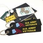 US Army Veteran luggage bag tag keychain