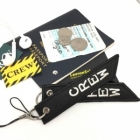CREW hang tag for flight attendant cockpit cabin crew luggage tote bag tag keychain