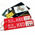 HND Haneda Airport code Japan air flight attendant cockpit crew luggage bag tag keychain