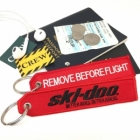 Skidoo Waterski Jetski Engine Remove Before Flight ignition key keychain luggage bag tag