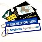 Aerolineas Argentinas Airliner Remove Before Flight attendant cockpit pilot luggage bag tag keychain