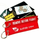 Australia Crew REMOVE BEFORE FLIGHT flight attendant cockpit pilot crew luggage bag tag keychain