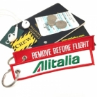 Alitalia airline Fight attendant Cabin cockpit crew luggage bag tag keychain
