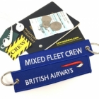 British Airways Mixed Fleet Crew REMOVE BEFORE FLIGHT attandant pilot luggage bag tag keychain