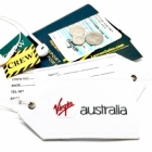 Virgin Australia airline Real Luggage Style tag with back slot for ID Flight Attendant Cabin Crew Cockpit Pilot Crew Authentic Equipment