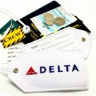Delta Airlines airline Real Luggage Style tag with back slot for ID Flight Attendant Cabin Crew Cockpit Pilot Crew Authentic Equipment