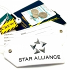 Star Alliance airline Real Luggage Style tag with back slot for ID Flight Attendant Cabin Crew Cockpit Pilot Crew Authentic Equipment