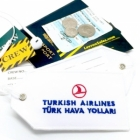 Turkish airlines Real Luggage Style tag with back slot for ID Flight Attendant Cabin Crew Cockpit Pilot Crew Authentic Equipment