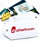Air Berlin airline Real Luggage Style tag with back slot for ID Flight Attendant Cabin Crew Cockpit Pilot Crew Authentic Equipment