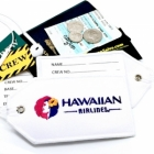 Hawaiian airline Real Luggage Style tag with back slot for ID Flight Attendant Cabin Crew Cockpit Pilot Crew Authentic Equipment