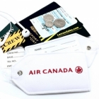 Air Canada airline Real Luggage Style tag with back slot for ID Flight Attendant Cabin Crew Cockpit Pilot Crew Authentic Equipment