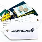 Air New Zealand airline Real Luggage Style tag with back slot for ID Flight Attendant Cabin Crew Cockpit Pilot Crew Authentic Equipment