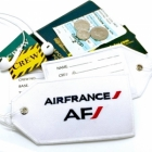 Air France airline Real Luggage Style tag with back slot for ID Flight Attendant Cabin Crew Cockpit Pilot Crew Authentic Equipment