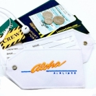 Aloha airline Real Luggage Style tag with back slot for ID Flight Attendant Cabin Crew Cockpit Pilot Crew Authentic Equipment