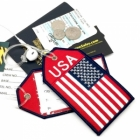 USA flag airline Real Luggage Style tag with back slot for ID Flight Attendant Cabin Crew Cockpit Pilot Crew Authentic Equipment